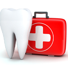 A tooth and first aid kit