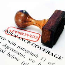 Dental insurance forms with approved stamp