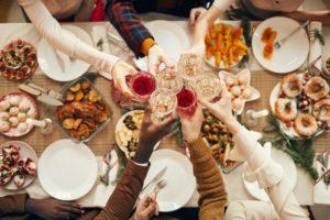 holiday food spread in arlington